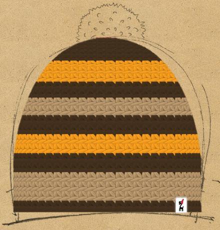 Häkelmütze Modell Biene Maja