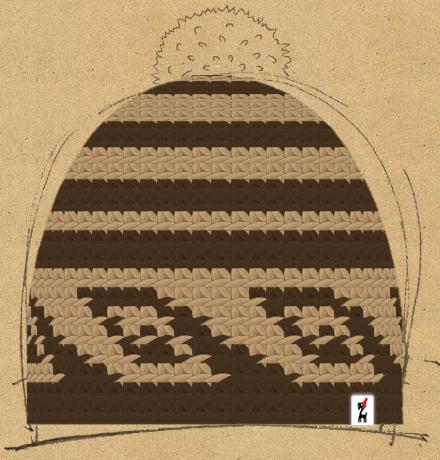 Bild der Häkelmütze mit dem Namen
