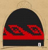 konfigurierte Mütze Black&Red
