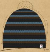 konfigurierte Mütze blau-braun