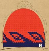 konfigurierte Mütze Blue Wave