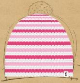 konfigurierte Mütze bunter winter