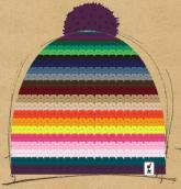 konfigurierte Mütze farbenfroh