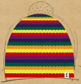 konfigurierte Mütze Groovy-Rainbow