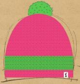 konfigurierte Mütze gr�n-pink