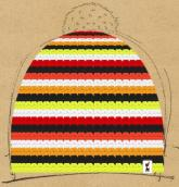 konfigurierte Mütze herbstfarben