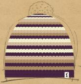 konfigurierte Mütze Lila Laune
