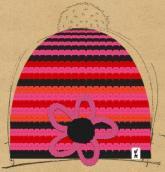 konfigurierte Mütze pink flower