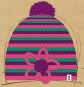 konfigurierte Mütze Pink Green