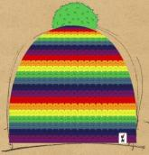 konfigurierte Mütze Regenbogen