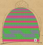 konfigurierte Mütze Rosa Gr�nes M�tzchen