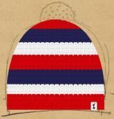 konfigurierte Mütze rot-blau-wei�
