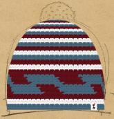 konfigurierte Mütze weinblau
