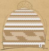 konfigurierte Mütze White choco
