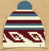 konfigurierte Mütze winterfarben